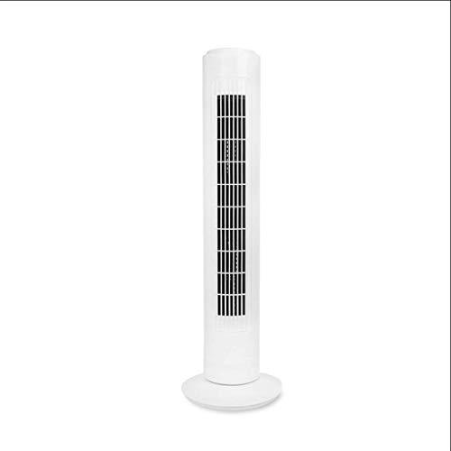 Torre de ventilador del escritorio del ventilador eléctrico, sin hojas piso del ventilador silencioso de Hogares de escritorio vertical Estudiante compartida Ventilador - ventilador de pedestal blanco