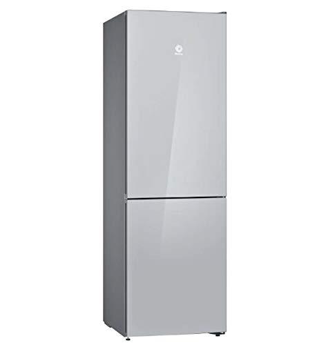 Balay 3KFE565WI Frigorífico combinado, Acabado en cristal Blanco 186 cm