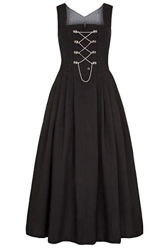 Country-Line Damen Damen Dirndl lang schwarz 'Ottilie', schwarz, 40