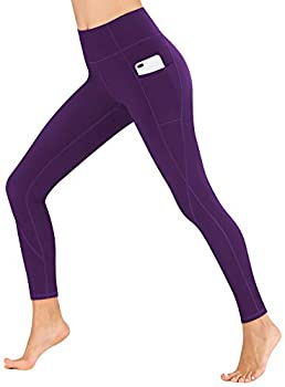 Heathyoga Yoga Pants for Women with Pockets High Waisted Leggings with Pockets for Women Workout Leggings for Women Grape Purple