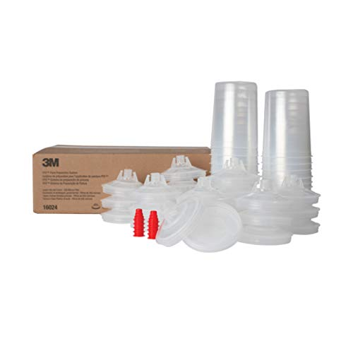 3M PPS (Original Series) Paint Spray Gun Cup Lids and Liners Kit, 16024,Large, 28 oz, 200-micron Filter, Use w/ Paint Gun for Cars, Furniture, Home,25 Disposable Lids and Liners, 10 Sealing Plugs