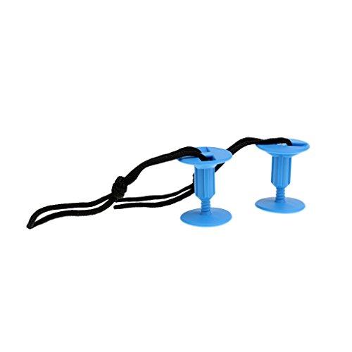 CUTICATE 2 Pedazos Hebilla para Tabla de Surf Bodyboard Leash Plugs Bodyboard Leash Tapones con Cordones de Cuerda - Azul