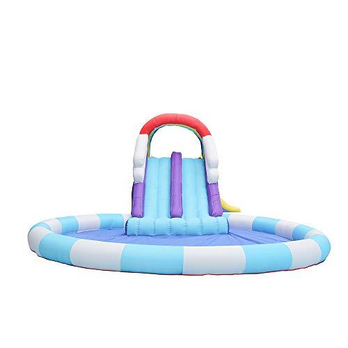 WAMY Castillo Inflable Inflable Castillo Inflable Castillo Interior y al Aire Libre Trampoline Niños Slide Kindergarten Air Bed para niños Niños (Tamaño:400 * 315 * 185cm)