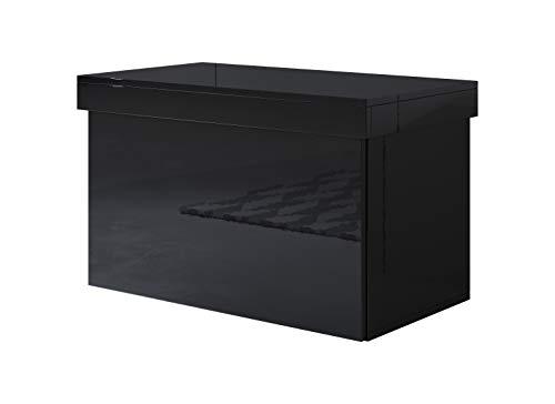 muebles bonitos Baúl Zapatero Dorian en Color Negro