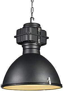 QAZQA Lámpara colgante industrial negra 53 cm - Sicko Aluminio/Vidrio Redonda Adecuado para LED Max. 1 x 150 Watt