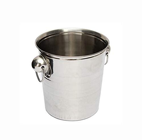 Kampanj Silver Rostfritt stål Ice Punch Hink Vin ölkylare Champagne Cooler Party