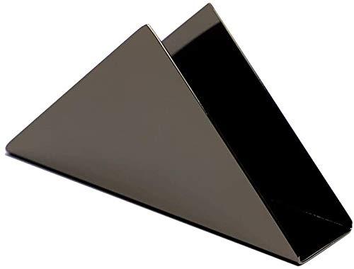 FülleMore Serviettenhalter Fashion Edelstahl Tissue Spender Dreieckig Tücherspender stehend Serviettenständer Küche Esstisch Tücherhalter Tissue Ständer 17x8.5x4.5cm (Schwarz)