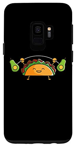 Galaxy S9 Taco Lifting Avocados Funny Food Snatch Squat Barbell Gym Case