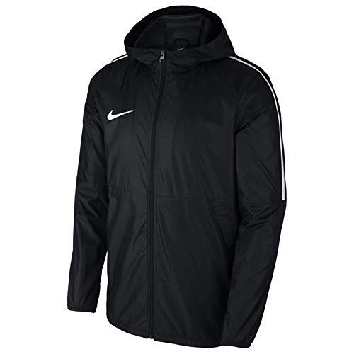 Nike Women's Dry Park 18 Football Rain Jacket (Black/White, Medium)