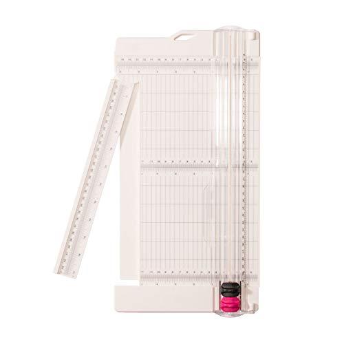 Vaessen Creative Papierschneider, Rollenschneider 30,5 x 15,2 cm |Schneide und Falzklinge | Schneidemaschine A3, A4, Plastik, Weiß, 15,2 x 30,5 cm