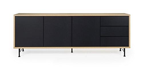 Tenzo 2876-682 Flow Sideboard 3 Türen und 3 Schubladen,