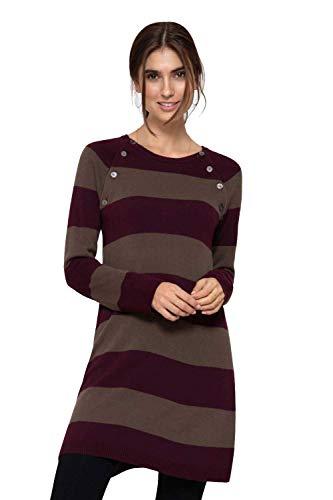 Milker Liddy - Robe d'allaitement Robe Grossesse Bordeaux/Brown Taille L