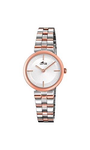 Lotus Watches Reloj Análogo clásico para Mujer de Cuarzo con Correa en Acero Inoxidable 18542/2