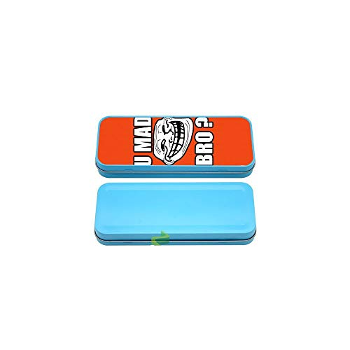 Générique Boite à Crayon u mad Bro. Fond Orange - Bleu