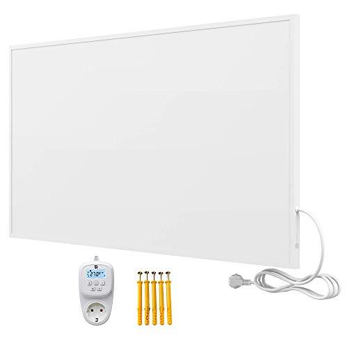 Bringer Infrarotheizung Infrarot Wandheizung Heizung Heizkörper Thermostat (1000 Watt, Heizplatte mit WIFI Thermostat (BRTW))