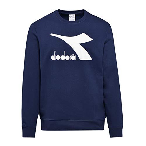 Diadora - Felpa Sweatshirt Crew Logo CHROMIA per Uomo (EU L)