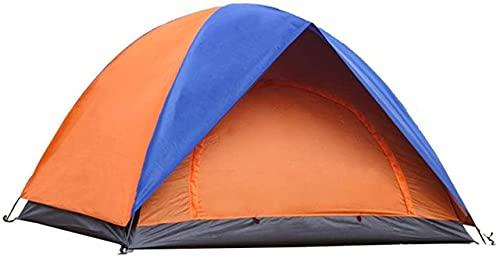 Ankon Portátil Camping Camping Tienda al aire libre 3 personas - 4 personas Tienda a prueba de lluvias Tienda de doble puerta Camping Camping Camping Estructura de espacio grande con buena estabilidad