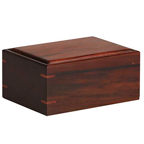 DLYDSSZZ Uhrenbox, multifunktionale Siegelbox, Massivholz, für Halsketten, Schmuck, Aufbewahrungsbox, als Geschenkbox, Uhrenschatulle, Deko-Box (Farbe: Braun, Größe: 11,585,5 cm)