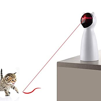 YVE LIFE Cat Laser Toy Automatic,Interactive Toy for Kitten/Dogs - USB Charging,Placing High,5 Random Pattern,Automatic On/Off and Silent  P01