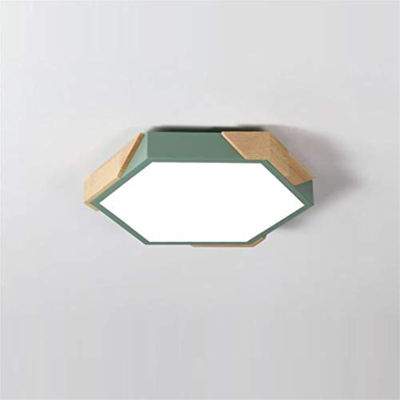 Deckenleuchte Kreative Unregelmige Polygonstudienlampe-Geometrielohnzimmerlampe Des Nordischen Klotzschlafzimmers Grüne