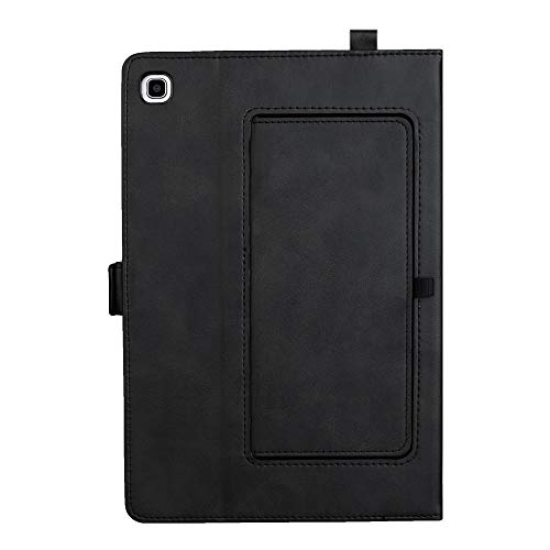Tanxinxing For Samsung Galaxy Tab A 8.0 Inch 2019 SM-P200/SM-P205 Premium PU Leather Double Stand Tablet Case Cover (Color : Black)