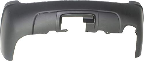 Rear Bumper Cover Compatible with 1999-2004 Jeep Grand Cherokee Primedwith Hitch Bezel and Tow Package Limited/Overland/Special Edition Model