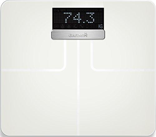 Garmin Index Smart Bilancia Impedenziometrica Bluetooth e Wi-Fi, Indice di massa corporea, Bianco