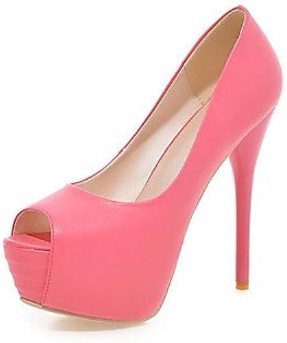 Zormey Chaussures Femmes Talon Stiletto Similicuir Peep Toe   Open Toe Sandales   Robe D¨ contract¨ e   Bleu   Jaune   Vert   Bleu   Beige Nous9 Ue40   Uk7   Cn41