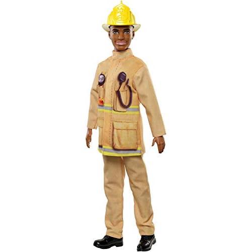 Barbie- Ken Pompiere Bambola Giocattolo per Bambini 3+ Anni, Multicolore, FXP05