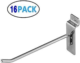 Slatwall Hooks,Hangers,Display Hooks6inch,Single Rod Hooks,Slatwall Display Panel Hooks 8inch,Perfectly Display Items & Pr...