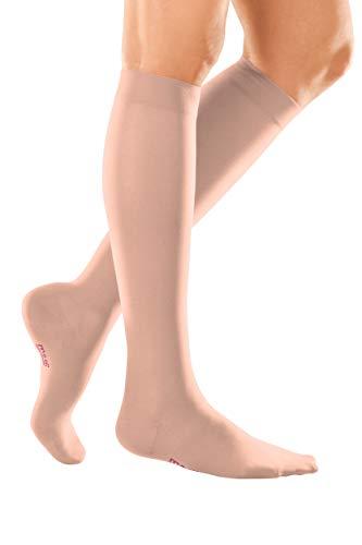 medi mediven elegance - 0247K84 Knielange Damen Kompressionsstrümpfe mit geschlossener Spitze   CCL2   ohne Haftband   rosé   Gr. IV kurz