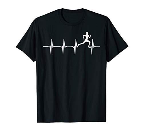 Laufen T-Shirt für Läufer & Jogger - Herzschlag EKG Motiv