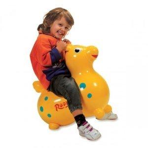 Behrend-Homecare Hüpfpferd Sitz- und Hüpfpferdchen Rody in GELB + WIPPE