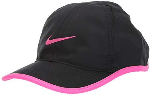 Nike Unisex-Kinder Y Nk Arobill Fthrlt Cap Kappe, Schwarz Laser-Fuchsia, Einheitsgröße