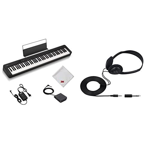 【セット買い】【Amazon.co.jp 限定】カシオ(CASIO) 電子ピアノ CDP-S100AZ 88鍵盤 ハンマーアクション鍵盤 軽量&コンパクトで持ち運びに便利 乾電池でも使用可能 & 純正ヘッドホン 電子キーボード/デジタルピアノ用 CP-16