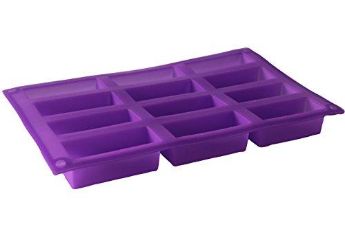 PLANTBREAK Silikon-Backform | Für 12 Riegel, Antihaft-Funktion | Ideal für Ofen, Mikrowelle, Kühl- und Gefrierschrank, spülmaschinengeeignet [rot]