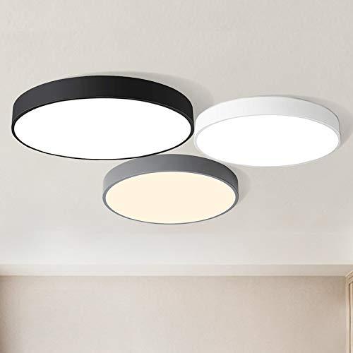 24W Deckenleuchte LED Deckenlampe warmweiß 3000K, ultra dünne Lampe für Küche Dieler Wohnzimmer Schlafzimmer 40 * 40 * 5cm (Schwarz)