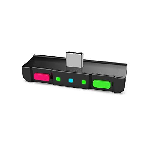 HomeSpot Bluetooth Adapter AptX 5.0 Audio Transmitter NS Game Zubehör kompatibel mit Kopfhörer AirPods Bose für Nintendo Switch Neonpink Neongrün
