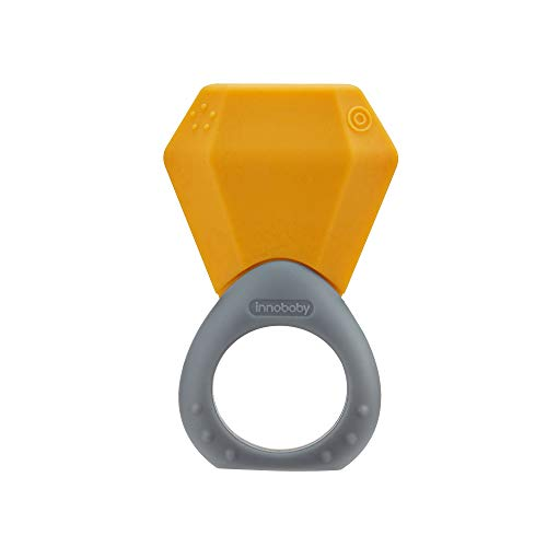 Innobaby Siliconen Geboortesteen Ring Teether November Citrien, van