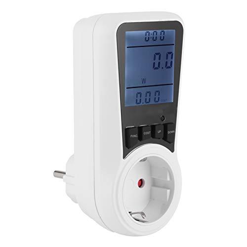 SALUTUYA con Gran Pantalla LCD, Monitor de Uso de Electricidad, Herramientas de medición para el hogar, Enchufe, Potencia, vatios, Voltaje, amperios, medidor,