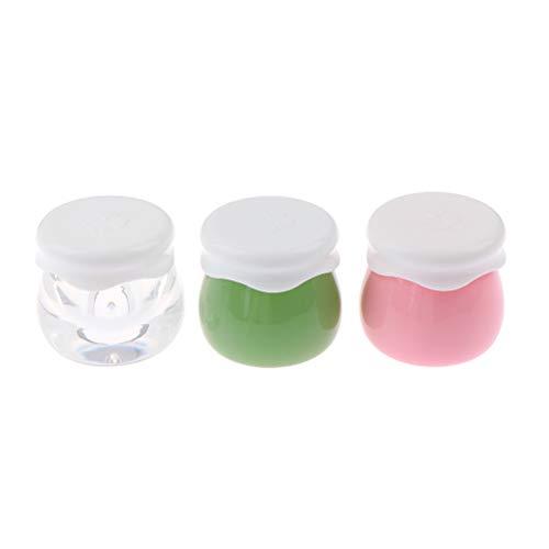 RUIYELE Lot de 3 pots vides rechargeables de 10 g pour crème pour le visage avec couvercle pour crèmes, échantillons de maquillage, huiles essentielles, lotions, pommade, confiture