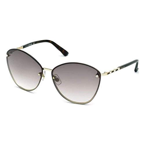 Swarovski Damen Sk0119-6432f Sonnenbrille, Gold/Gradient Brown, 64/14/135