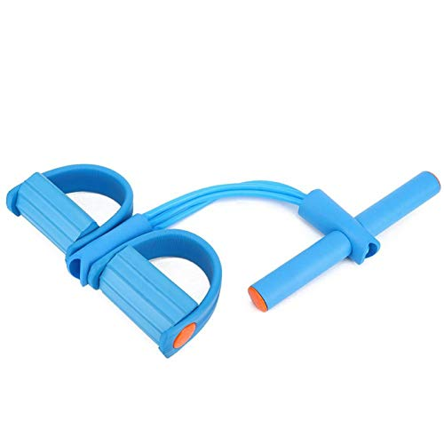 SALUTUYA Pedal Pull Rope Pedal Excerciser, Oficina o al Aire Libre(Four Strands of Blue OPP Bag)