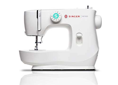 Singer M1500 Sewing Machine, 12 lbs, White