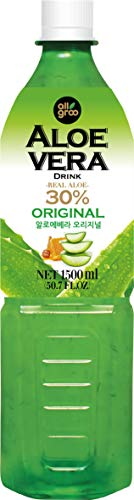 ALLGROO Aloe Vera Drink (vegetarisch, glutenfrei, Einwegpfand) Pur, 1500 ml