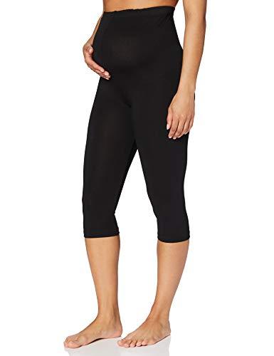 Bellinella Damen Umstands Capri-Legging, Schwarz (Schwarz), 40 (Herstellergröße: L)