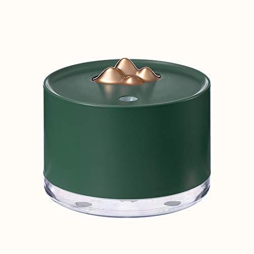 LUCKLY Mini Ultra Leise Air Humidifier, BPA-Free Tragbarer Raumbefeuchter, Zwei SprüHmodi, mit 7 Farben LED, Automatischer Abschaltung Ohne Wasser, Bis zu 8 h Stunden, fur Trockene Luft,Grün