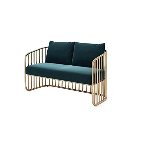 XYJHQEYJ Sofá Cama Simple Moderno Sofá de Ocio, sillón de Terciopelo, sillón, Comedor del Hotel Terraza de Estudio Sofá al Aire Libre, sillas para Sala de Estar, Verde