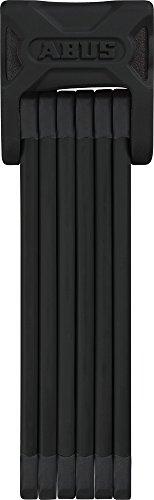 ABUS Faltschloss Bordo 6000/90 mit Halterung - Fahrradschloss aus gehärtetem Stahl - ABUS-Sicherheitslevel 10 - Länge 90 cm - Schwarz