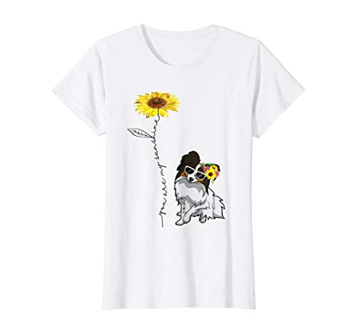 You Are My Sunshine Papillon t shirt, Sunflower and Papillon